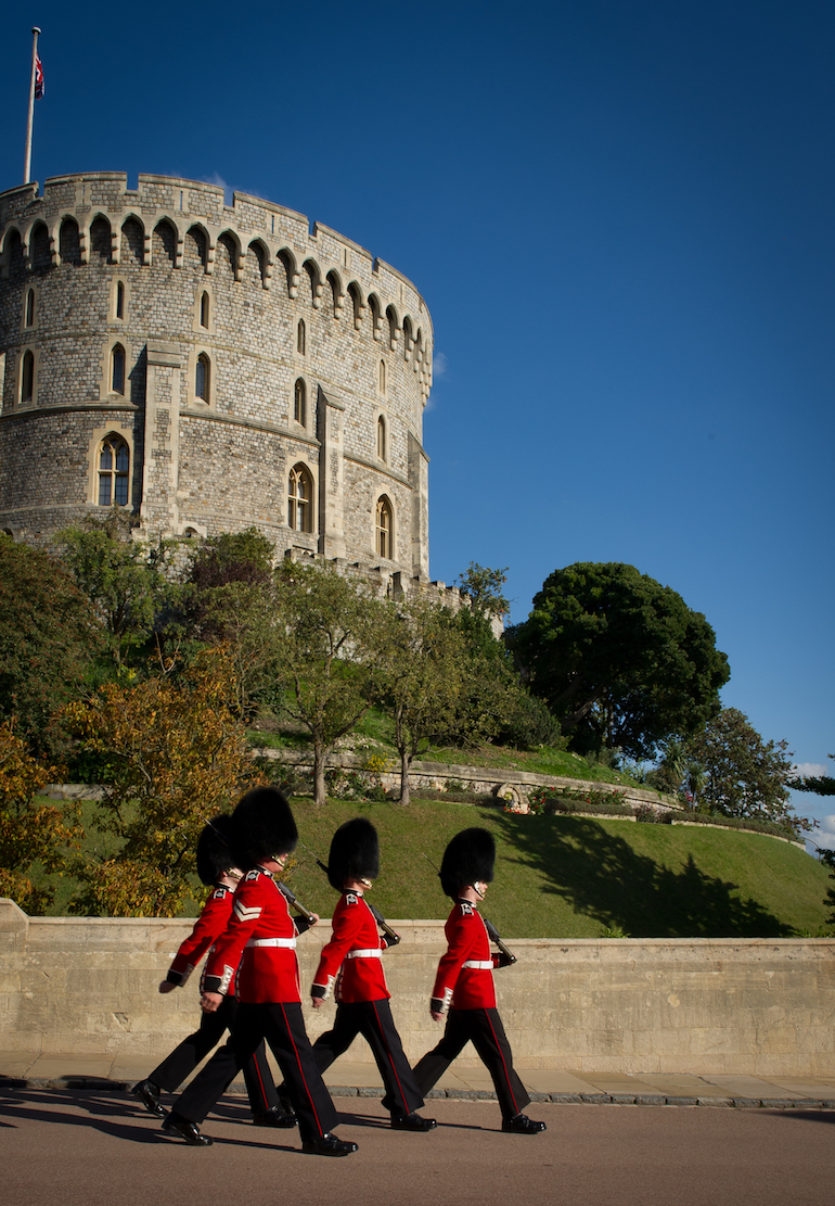Windsor Castle: Soldiers of the Queen's Guard.