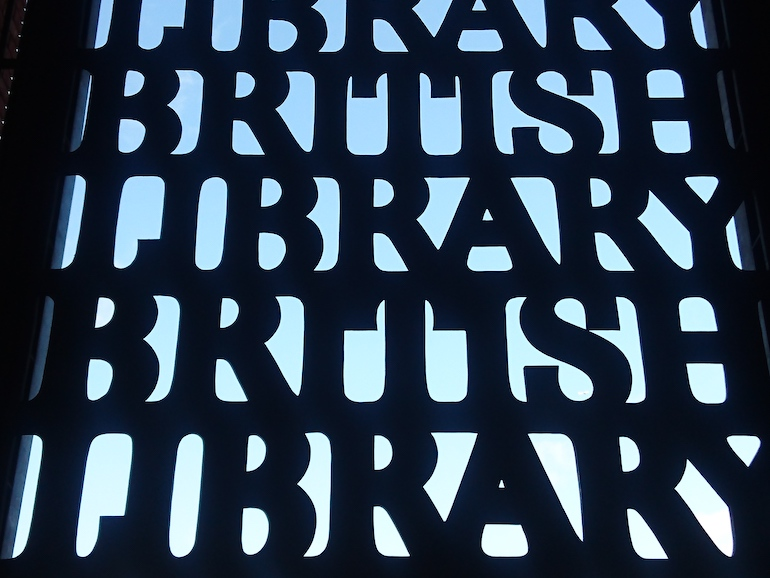 British Library in London: Entry Gate. Photo Credit: © Steve Fallon.