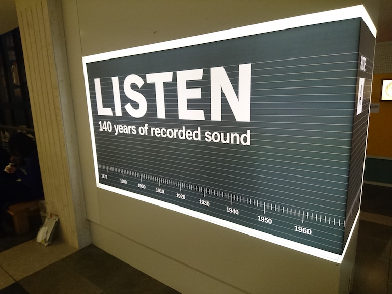 British Library: 140 Years of Recorded Sound. Photo Credit: © Steve Fallon.