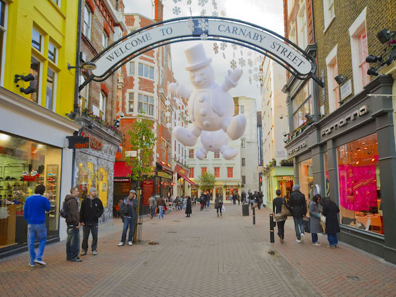 Carnaby Street in Soho area of London. Photo Credit: © London & Partners.