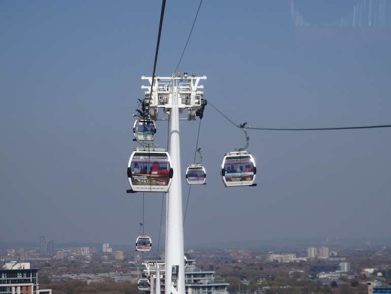 Emirates Air Line cable car. Photo Credit: © Angela Morgan.