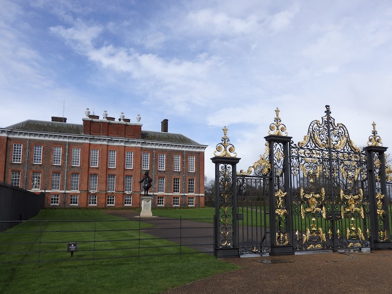 Golden Gates and entrance to Kensington Palace. Photo Credit: © Angela Morgan.