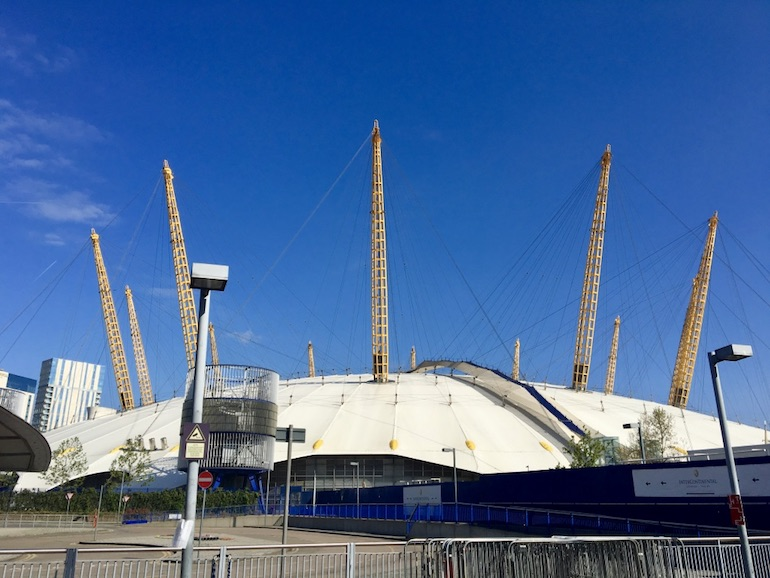 O2 Arena in Greenwich. Photo Credit: © Ursula Petula Barzey.