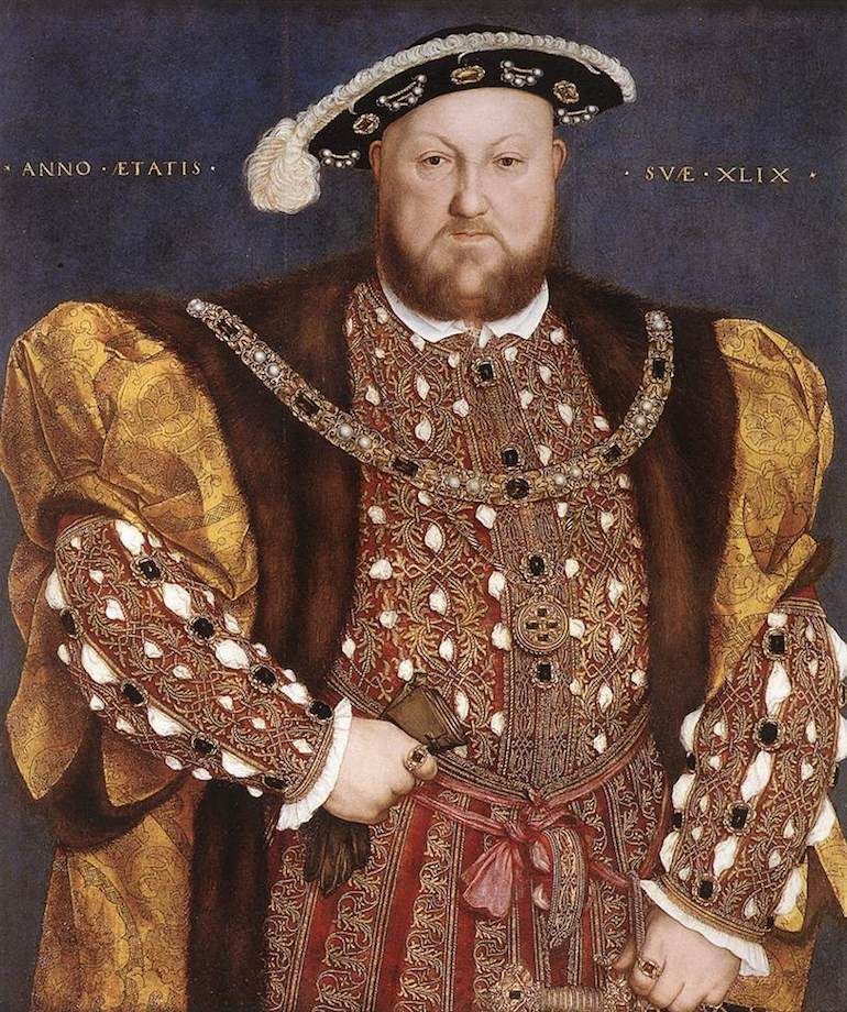 Portrait of King Henry VIII by Hans Holbein the Younger circa 1540. Photo Credit: © Public Domain via Wikimedia Commons.