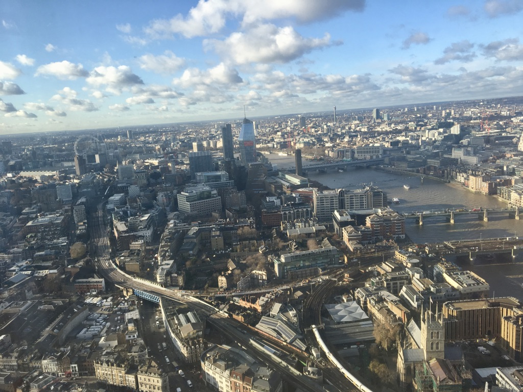 View across London from one of the rooms at Shangri-La Hotel on the 45th floor At The Shard. Photo Credit: © Ursula Petula Barzey.