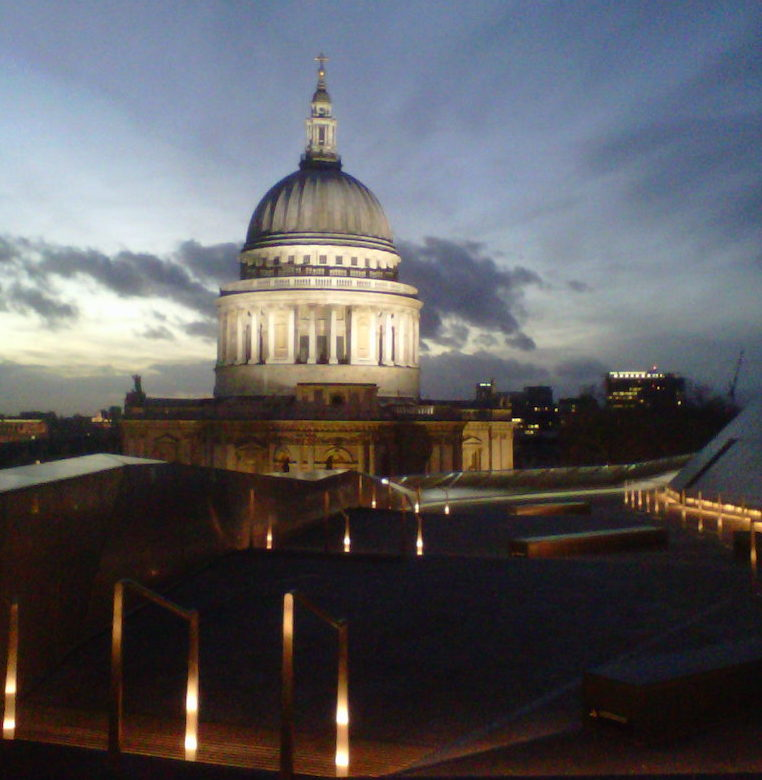 View of St Paul's Cathedral Dome from the roof of One New Change Shopping Centre. Photo Credit: © Angela Morgan.