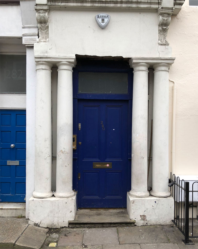 Notting Hill: Blue Door from Notting Hill Movie. Photo Credit: © James Hamill.