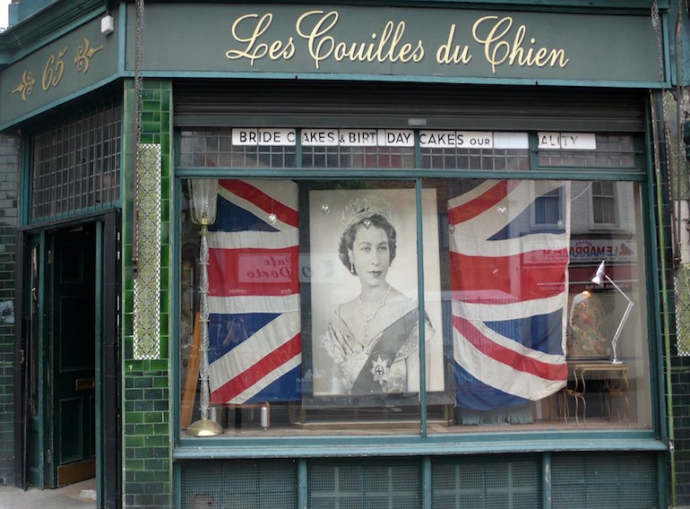 Notting Hill: Golborne Road Market - Les Couilles de Chien shop front. Photo Credit: © Les Couilles de Chien.