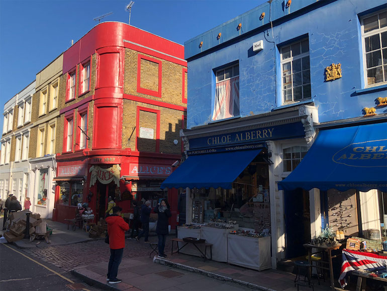 Notting Hill: Portobello Road Market. Photo Credit: © James Hamill.