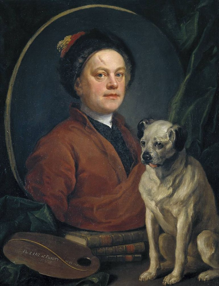 The Painter and His Pug by William Hogarth. Photo Credit: © Public Domain via Wikimedia Commons.