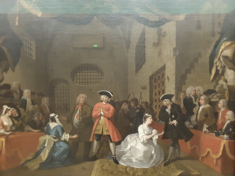 Tate Britain: A Scene from 'The Beggar's Opera' VI by William Hogarth 1731. Photo Credit: © Ingrid Wallenborg.