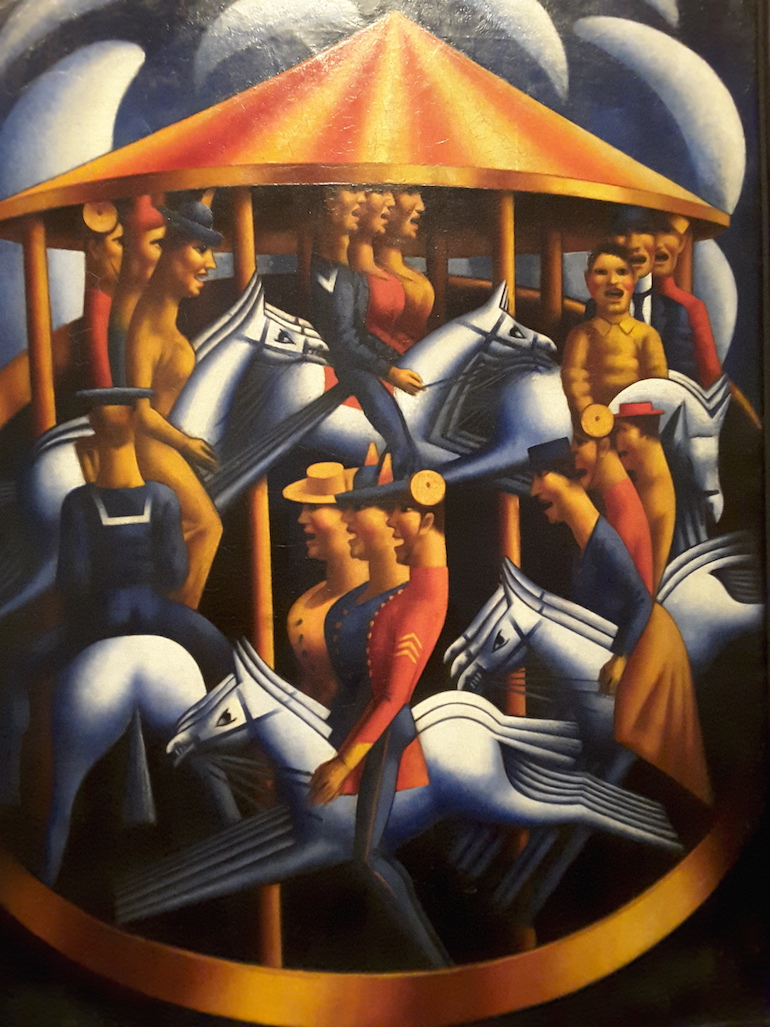 Tate Britain: Merry-Go-Round by Mark Gertler 1916. Photo Credit: © Ingrid Wallenborg.