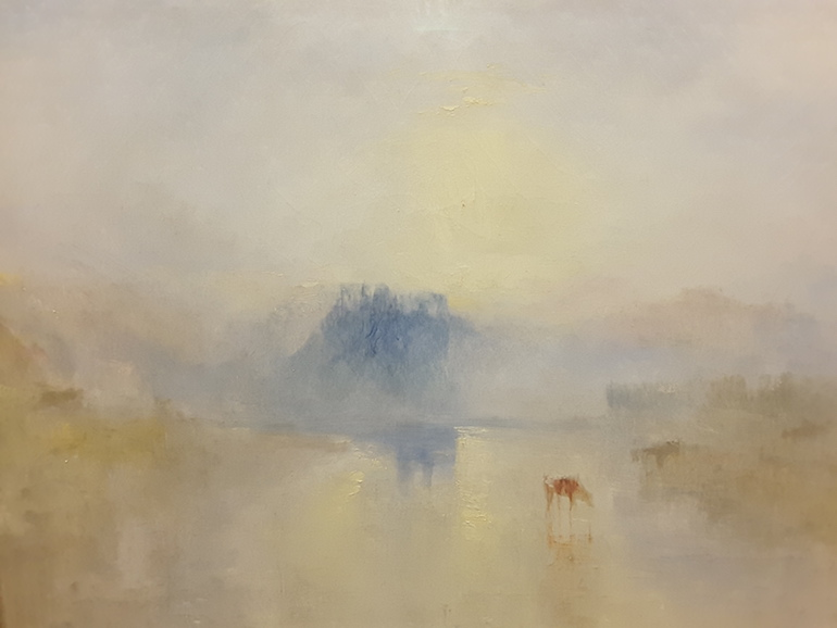 Tate Britain: Norham Castle, Sunrise by JMW Turner c. 1845. Photo Credit: © Ingrid Wallenborg.