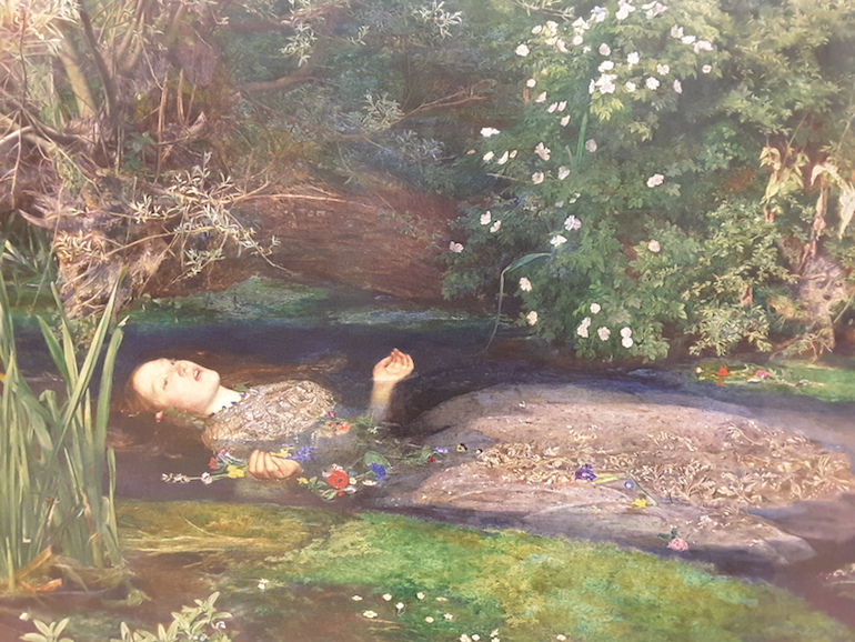 Tate Britain: Ophelia by Sir John Everett Millais 1851 - 52. Photo Credit: © Ingrid Wallenborg.