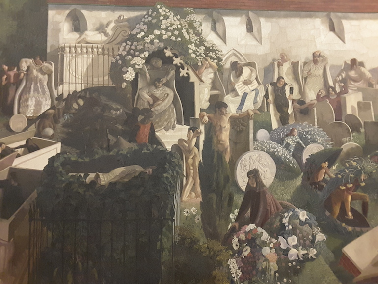 Tate Britain: The Resurrection, Cookham by Sir Stanley Spencer 1924 - 27. Photo Credit: © Ingrid Wallenborg.