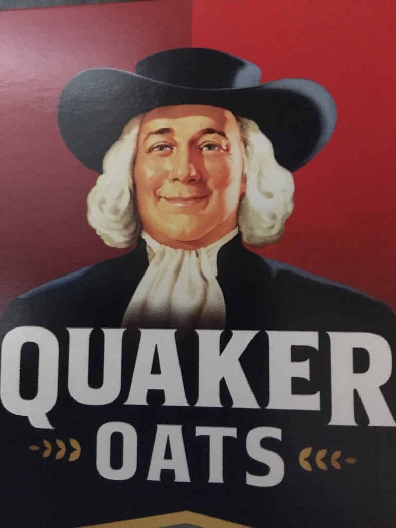 The logo for the Quaker Oats line of products. Photo Credit: © Fair use / Wikimedia Commons.