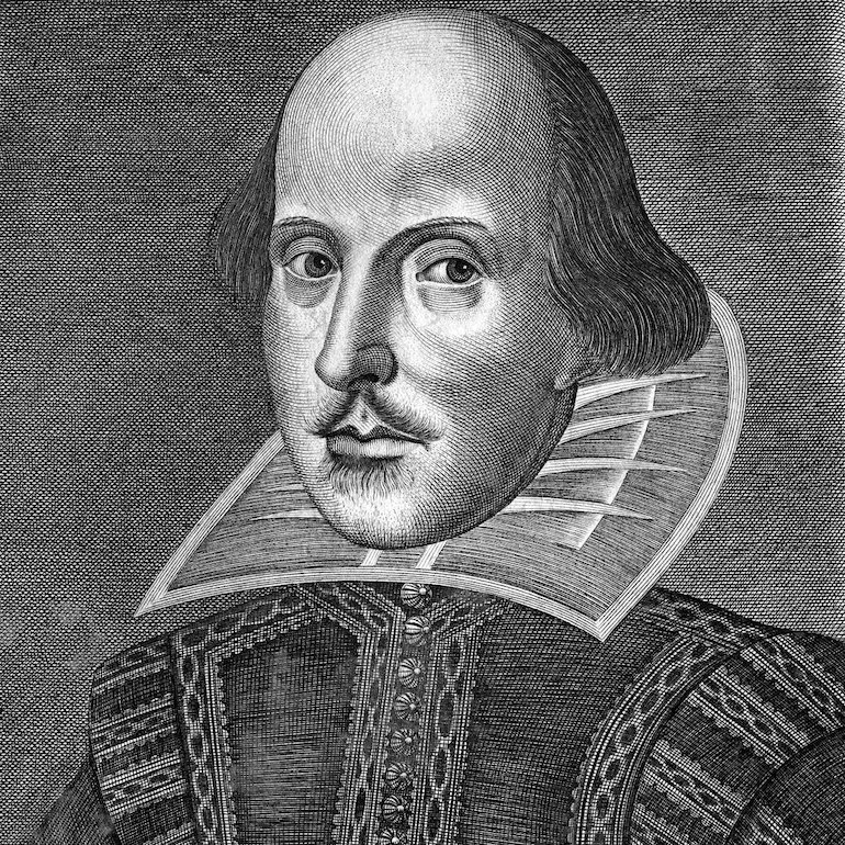 William Shakespeare portrait by Martin Droeshout known asThe Droeshout Engraving. Photo Credit: © Public Domain via Wikimedia Commons.