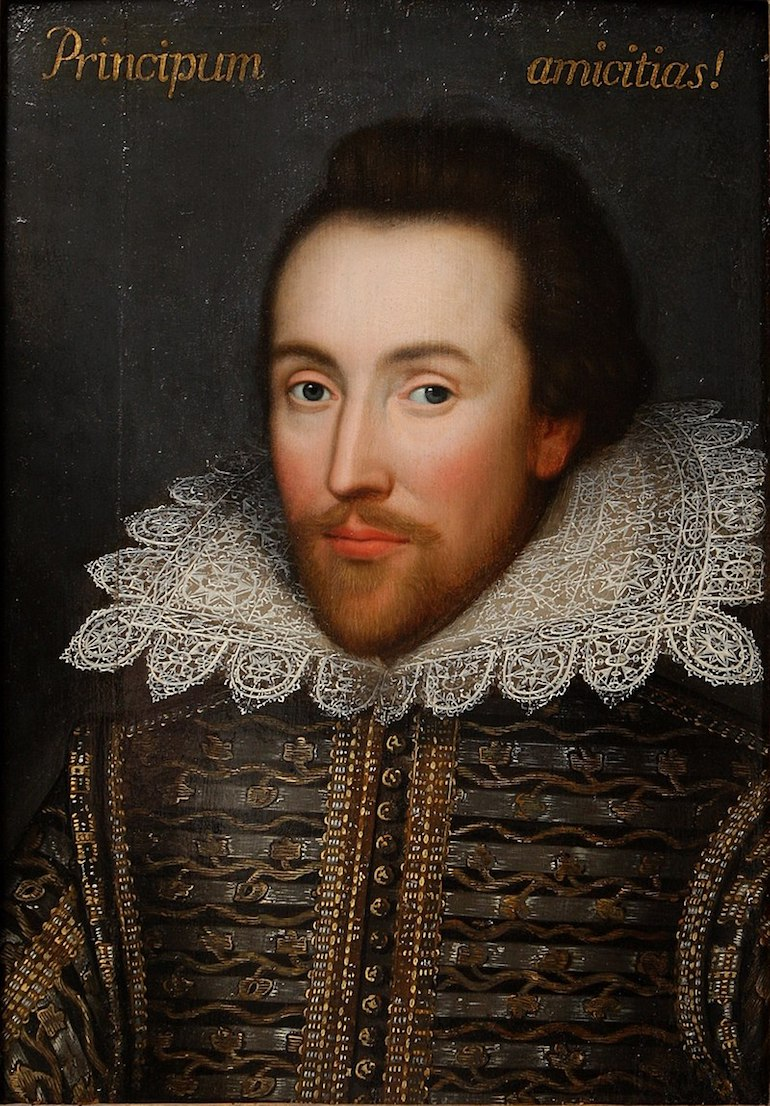 William Shakespeare portrait known as the Cobbe painting. Photo Credit: © Public Domain via Wikimedia Commons.