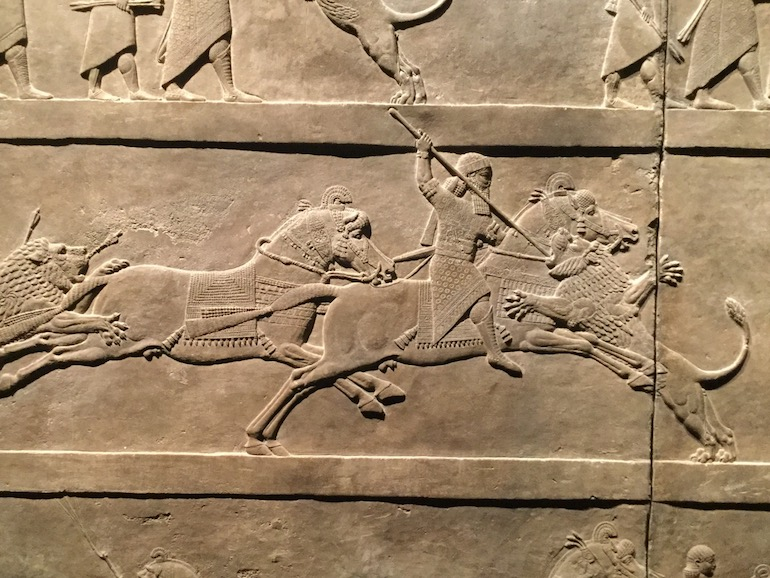 British Museum in London: Ashurbanipal hunting lions. Photo Credit: © Sue Hyde.