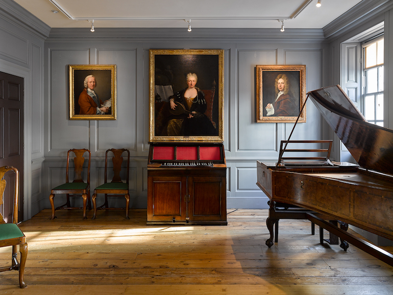 George Frederick Handel House Music Room. Photo Credit: © James Newton.