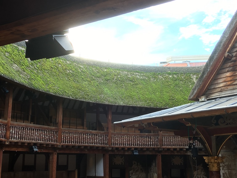 Roof of William Shakespeare's Globe Theatre in London. Photo Credit: © Edwin Lerner.