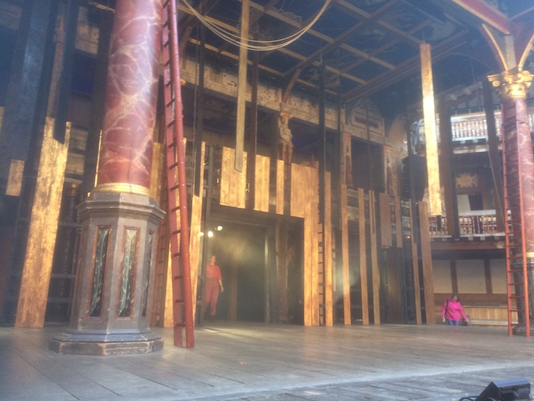 Stage of William Shakespeare's Globe Theatre in London. Photo Credit: © Edwin Lerner.