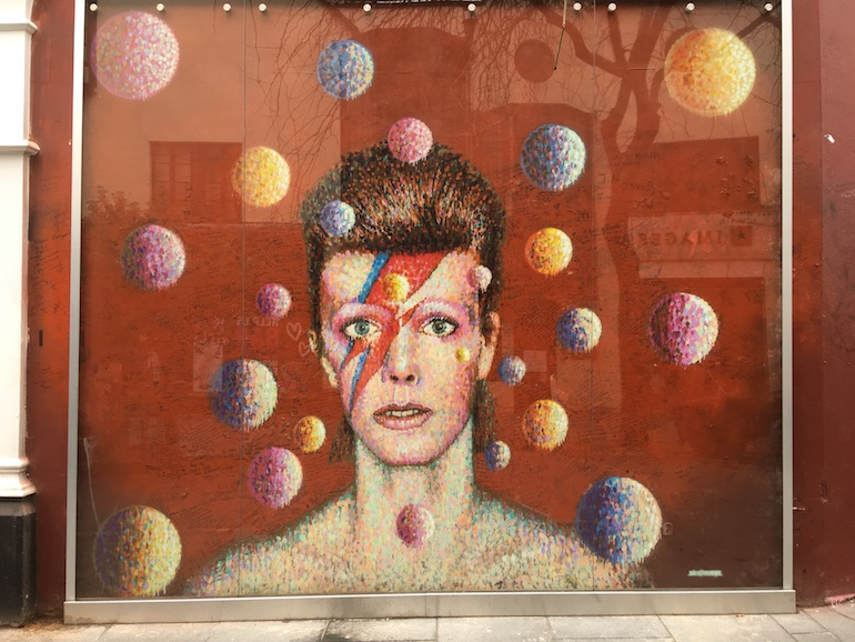 David Bowie Mural in Brixton. Photo Credit: © Edwin Lerner.