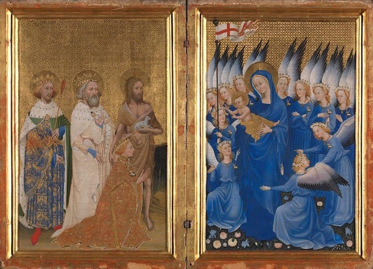 National Gallery In London_Wilton Diptych painting. Photo Credit: © The National Gallery.