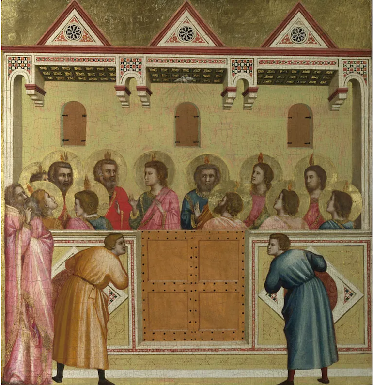 National Gallery in London_Pentecost painting Giotto and Workshop. Photo Credit: © The National Gallery.