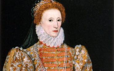 Portrait of Queen Elizabeth I of England, painted circa 1575 by Darnley. Photo Credit: © Public Domain via Wikimedia Commons.