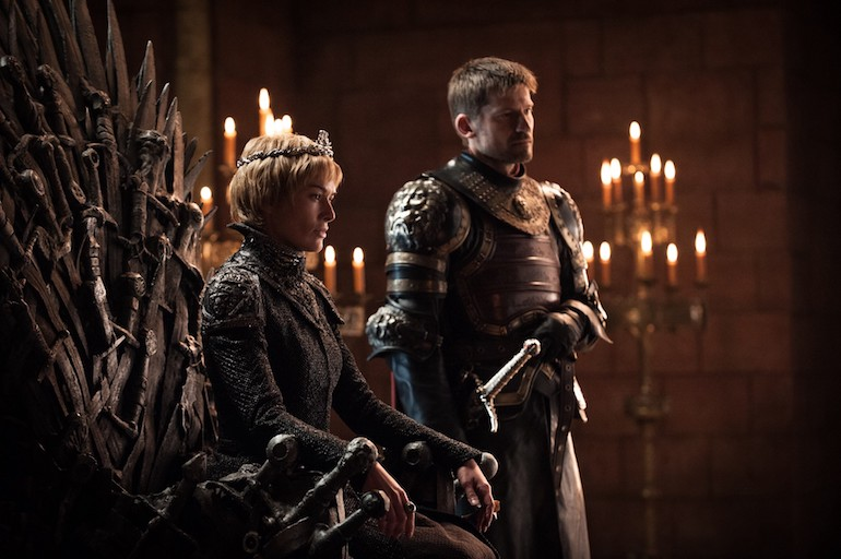 Game of Thrones: Cersei Lannister & Jaime Lannister. Photo Credit: © Helen Sloan/HBO.