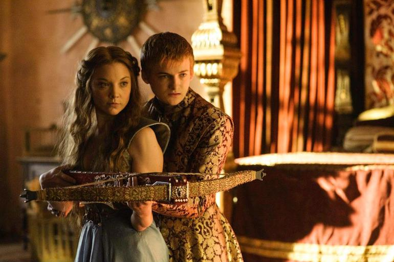 Game of Thrones: King Joffrey Baratheon and intended bride Margaery Tyrell. Photo Credit: © Helen Sloan/HBO.