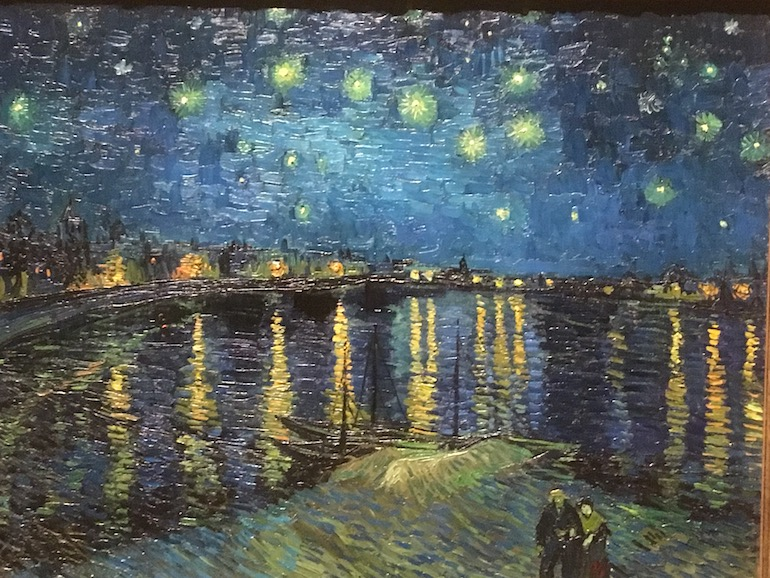 Vincent van Gogh Starry Night Over the Rhone painting. Photo Credit: © Edwin Lerner.