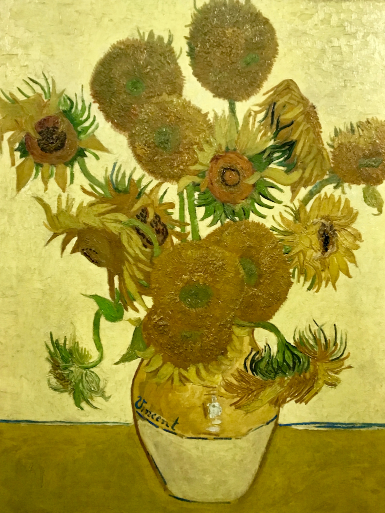 Vincent van Gogh sun flower painting. Photo Credit: © Ursula Petula Barzey.