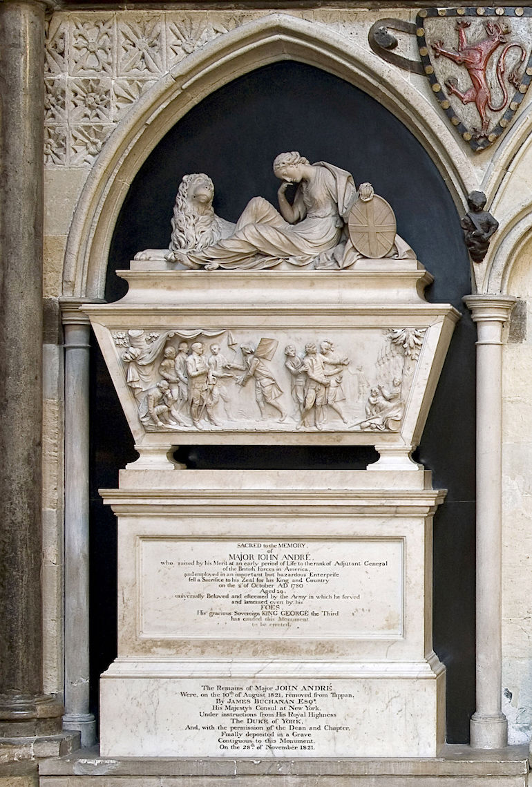British Major John Andre monument at Westminster Abbey. Photo Credit: © Westminster Abbey.