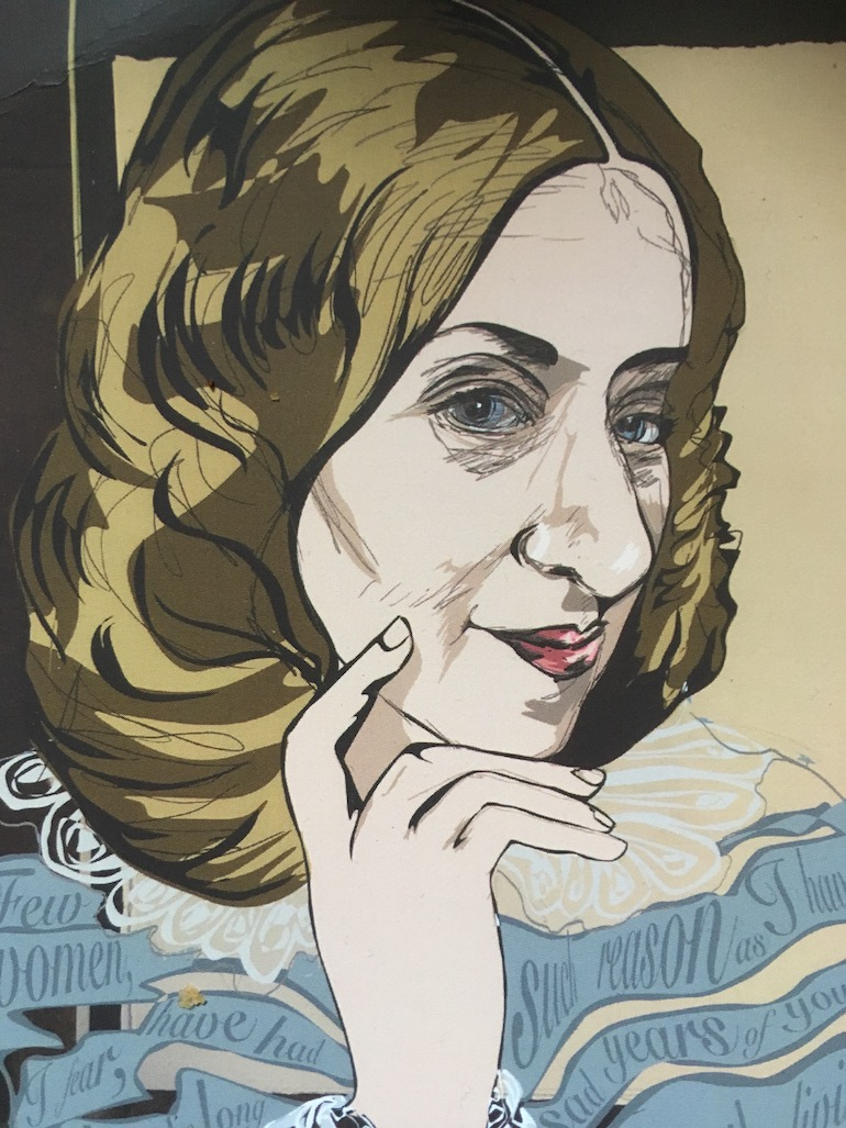 George Eliot painting. Photo Credite: © Edwin Lerner.