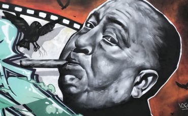 Mural of Alfred Hitchcock in London. Photo Credit: © Edwin Lerner.