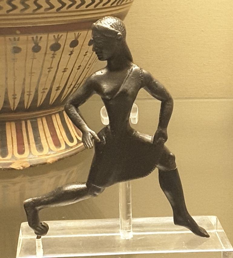 British Museum in London: Greek Running Girl, 6th Century BC. Photo Credit: © Ingrid M Wallenborg.
