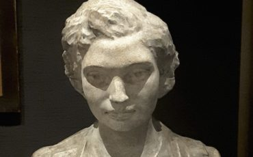 British Museum in London: Noor Inayat Khan, bronze by Karen Newman. Photo Credit: ©  Ingrid M Wallenborg.