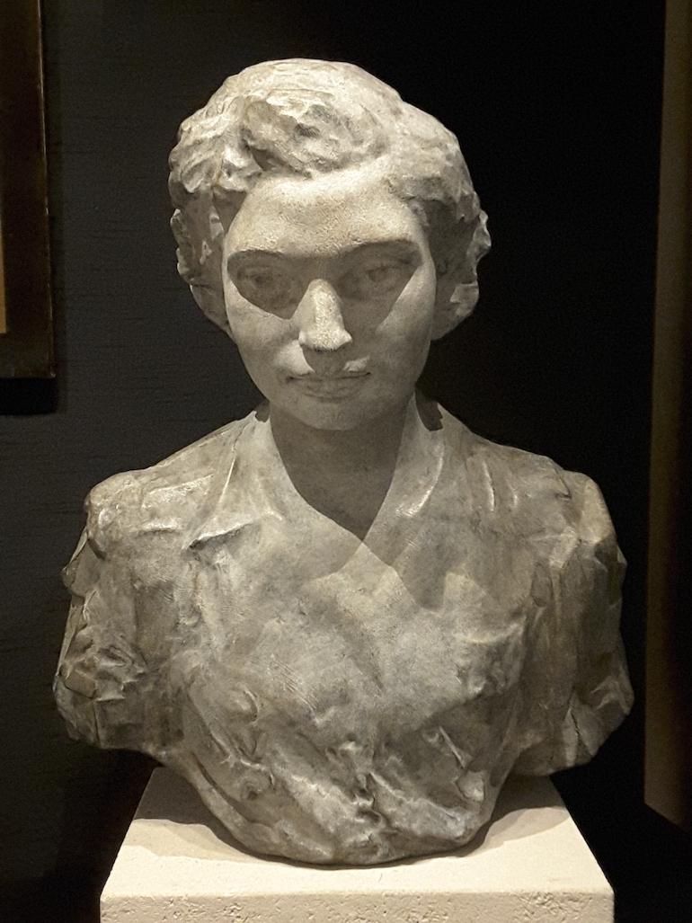 British Museum in London: Noor Inayat Khan, bronze by Karen Newman. Photo Credit: © Ingrid M Wallenborg.