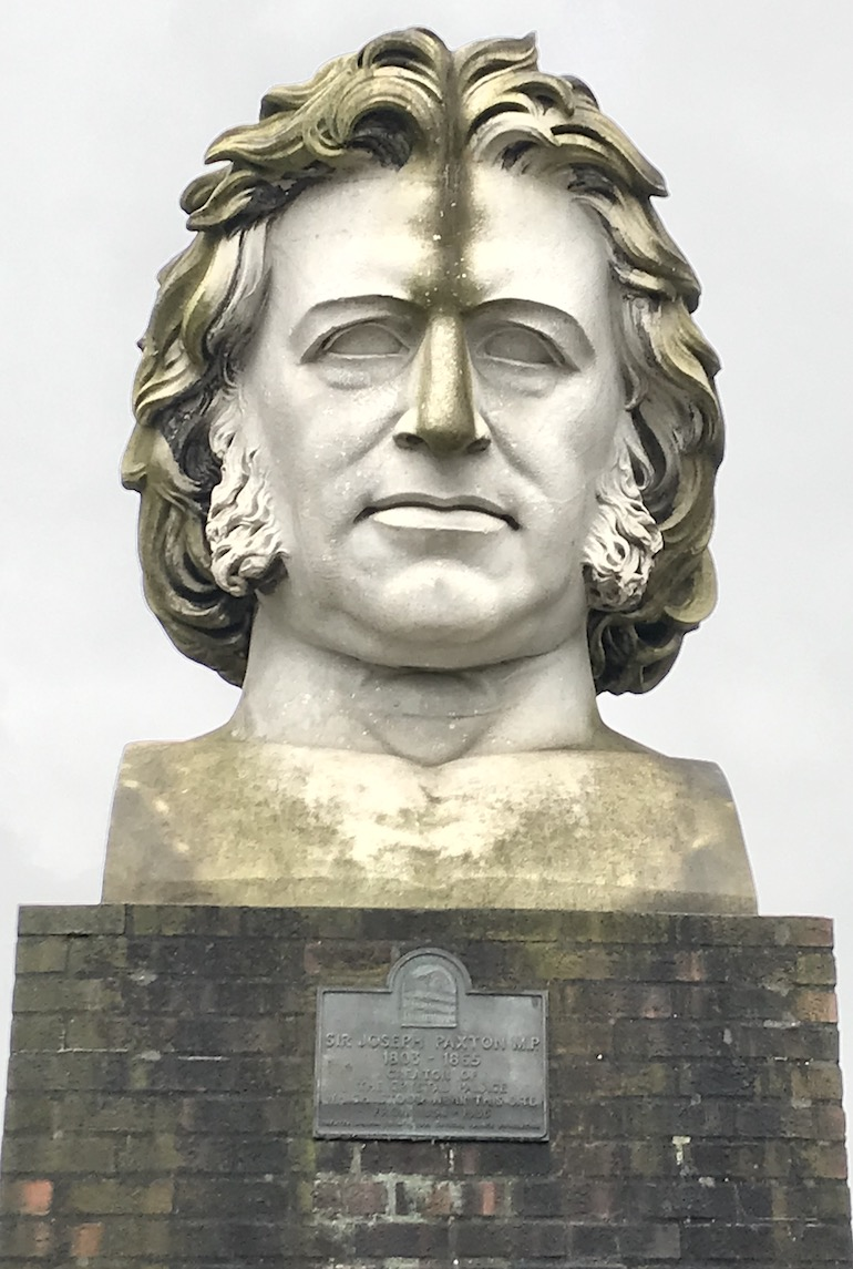 Crystal Palace Paxton bust. Photo Credit: © Edwin Lerner.