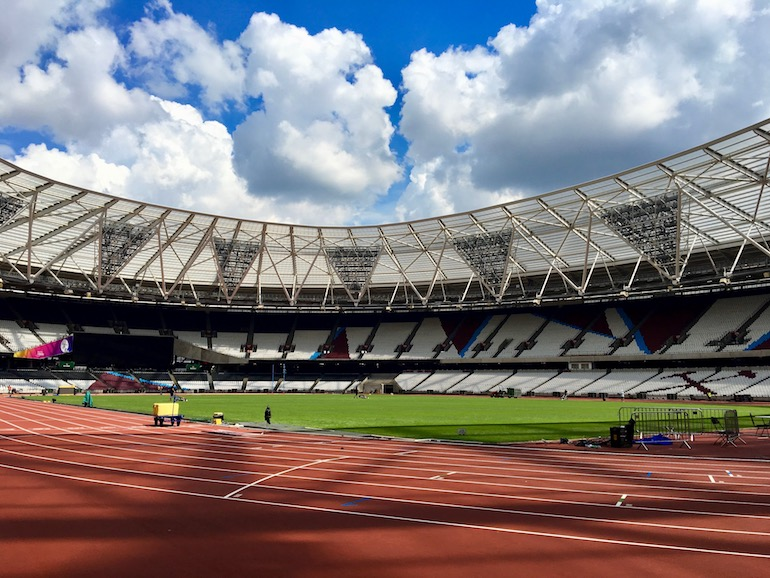Inside London Stadium at the Queen Elizabeth Olympic Park. Photo Credit: © Ursula Petula Barzey.