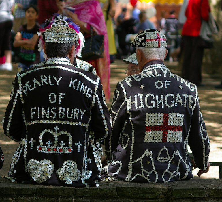 Pearly Kings at Highgate Festival. Photo Credit: © Julian Osley via Wikimedia Commons.