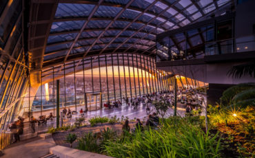 Sky Garden Restaurant in London. Photo Credit: © rhubarb, Sky Garden.