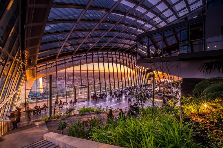 Sky Garden Restaurant in London. Photo Credit: © rhubarb, Sky Garden.