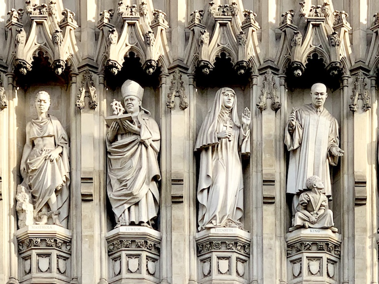 The statues of 21st century Christian martyrs on the Abbey's West Front. Photo Credit: © Antony Robbins.