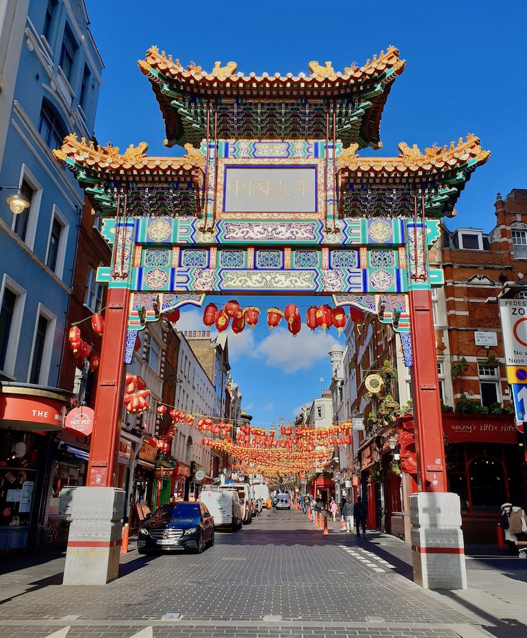 A gate on Wardour Street one of the entrances to Chinatown in London. Photo Credit: © Ursula Petula Barzey.