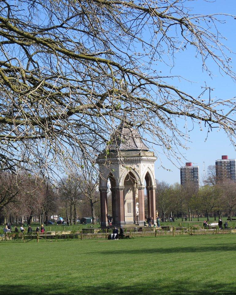 Angela Burdett-Coutts Memorial Drinking Fountain, Victoria Park, Bow, East London. Photo Credit: © Steve Fallon.