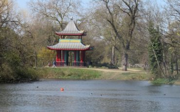 Chinese pagoda, Victoria Park, Bow, East London. Photo Credit: © Steve Fallon.