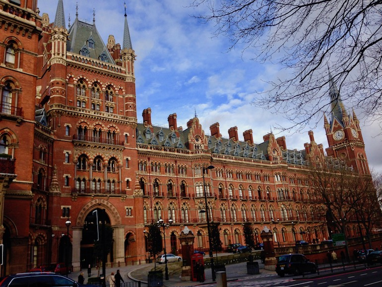 Entrance to St. Pancras Renaissance Hotel London. Photo Credit: © Ursula Petula Barzey.